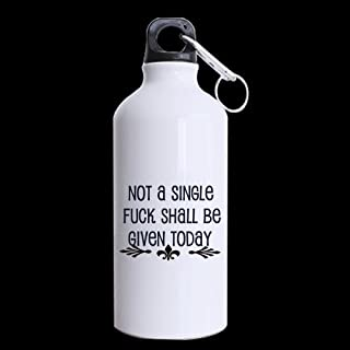 Valentine's Day Gift Not a single fuck shall be given today Sports Bottle - 13.5 OZ Two Sides Print