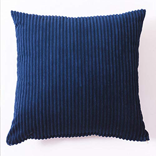 Almohada de color sólido para el hogar, sofá, almohada grande, accesorios para el coche, almohada lumbar, simple, azul, 45 x 45 cm