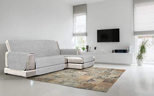 Italian Bed Linen Copridivano Antiscivolo Comfort con Penisola DX, Grigio, 190 cm