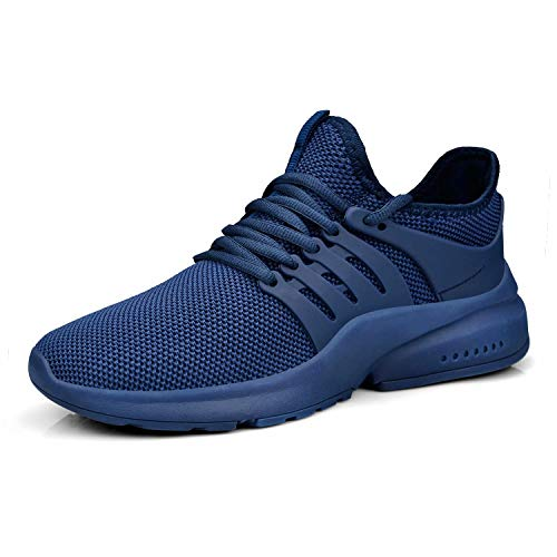 Troadlop Women Shoes Running Walking Non Slip Slip-on Athletic Breathable Sport Low Top Gym Casual Girls Lady Work Sneakers Size 10.5 Blue