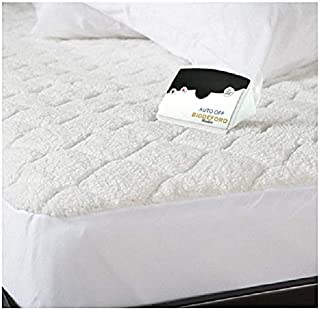 Biddeford 5302-9051128-100M Quilted Sherpa Electric Heated Mattress Pad Queen