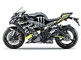 Motostick Graphics Kit de adhesivos compatibles con Kawasaki Ninja ZX-10R 'Monster' 2016-2020 (amarillo neón)
