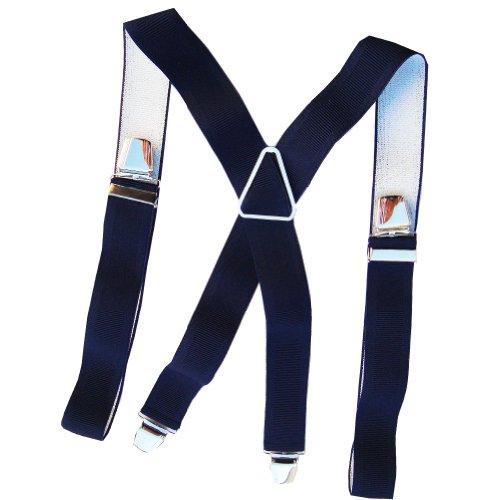 Bretelle unie bleu marine 120cm 4 pinces
