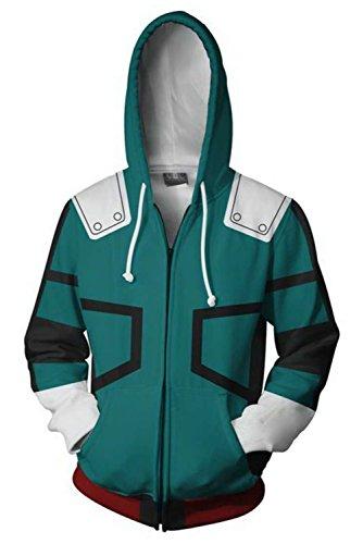 xingyueshop Adult Zipper Hoodie Unisex Printed Hooded Sweater Mens Green Baseball Pullover Sweatshirt Winter Warm Cotton 3D Printed Hoodie Outerwear Jacket Halloween Cosplay Costume(Size: XXL)