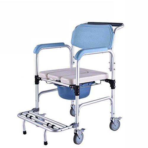 Guo Shop- Commode chaise femmes enceintes handicapées personnes âgées selles en aluminium alliage 55 * 51 * (84 * 94) Salle de bain Tabourets
