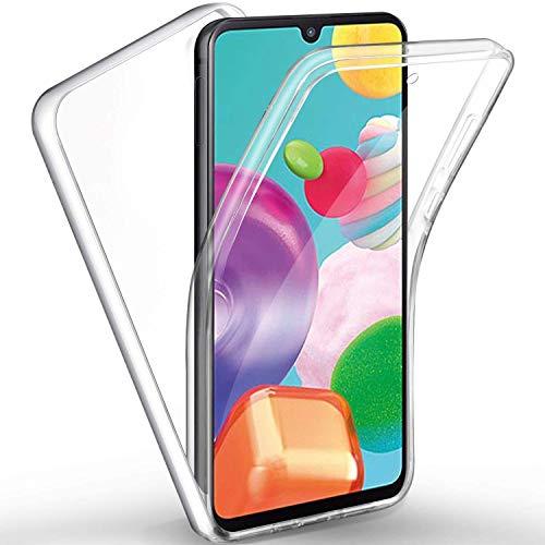 Funda para teléfono móvil 360 grados compatible con Huawei P9 Lite, carcasa rígida trasera y protector de pantalla delantero con silicona antigolpes, protección completa, transparente