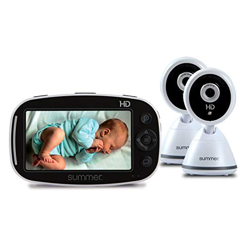 """Summer Baby Pixel Zoom HD Duo 5.0"""" Video Baby Monitor (2 Cameras) – High Definition Baby Monitor with Clearer, Nighttime Views, SleepZone Boundary Alerts and Remote Camera Steering"""