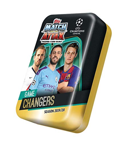 4 Pack Uefa Champions League 2019 2020 Topps Match Attax Soccer Card Mega Tin By Match Attax