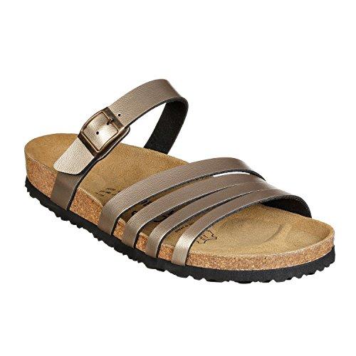 JOYCE Rome, riemje-sandalen voor dames, comfortabele kurk-sandalen met comfortabele zool, pasvorm normaal, maten 36-43