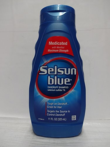 Selsun Blue Dandruff Shampoo 11 oz. Medicated (Pack of 6)