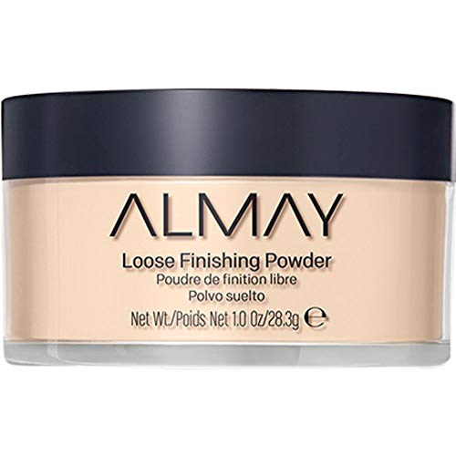 Almay Loose Finishing Powder, Natural Finish Mattifying Makeup Setting Powder, Hypoallergenic, Cruelty Free, Fragrance Free, Dermatologist Tested, 100 Light, 1 oz