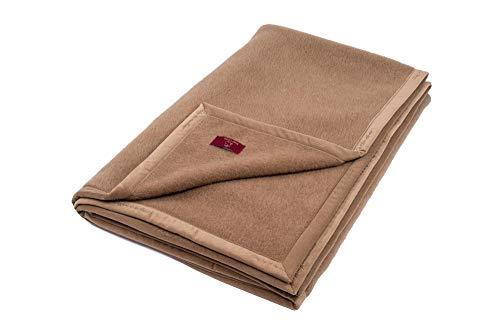 """Ritter Decken Kamelhaardecke """"Maharani 150 x 200 cm Kamel (ungefärbt) aus 100% Kamelhaar (Natur) weich. Wolldecke aus eigener Herstellung. Geeignet als Wohndecke, Kuscheldecke und Tagesdecke."""