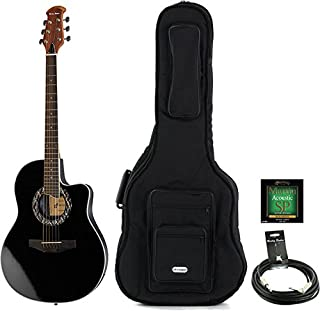 Guitarra Acústica oferta Bundle Color Harley HB600BK Bundle