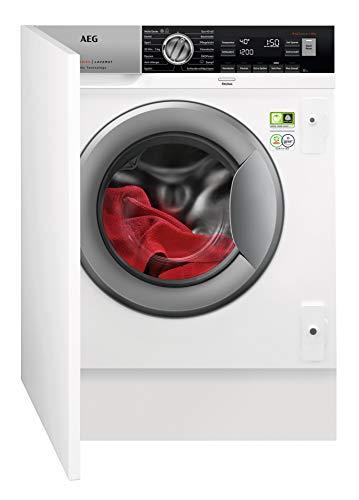 AEG L8FEI7485 Einbauwaschmaschine/ÖKOMix Faserschutz/ProSteam Auffrischfunktion / 8,0 kg/Leise/Mengenautomatik/Nachlegefunktion/Kindersicherung/Wasserstopp / 1400 U/min weiß