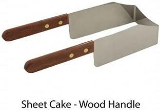 Kake Kut'r Sheet Cake Wood Handle Cutter Stainless Steel Server