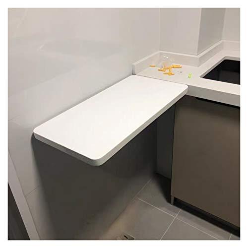 AMDHZ Mesa Plegable Pared Estante Colgante Escuadras Metalicas Esquinas Redondeadas Impermeable Almacenamiento Fijo 40 * 30 Usado para Oficina Cuarto Restaurante (Color : White, Size : 80X30CM)