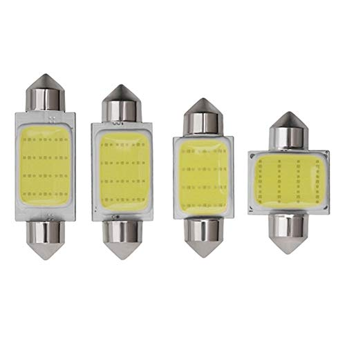 5PCS c3w C5W C10W slinger LED auto COB lezen hek licht Trunk Lamp Kentekenplaat Bulb 31MM 36MM 39MM 41MM wit 12V Car Styling WELSUN (Emitting Color : 36mm)
