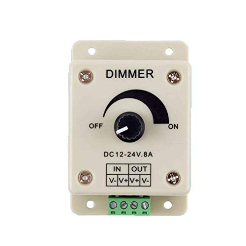LED dimmer 12-24 8A instelbare helderheid Lamp Strip Driver Enkele kleur Light Power Supply Controller