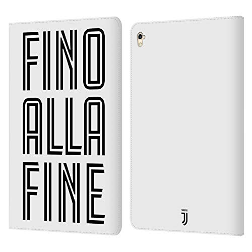 Head Case Designs Oficial Juventus Football Club Fino Alla Fine Blanco Tipo Carcasa de Cuero Tipo Libro Compatible con Apple iPad Pro 9.7 (2016)