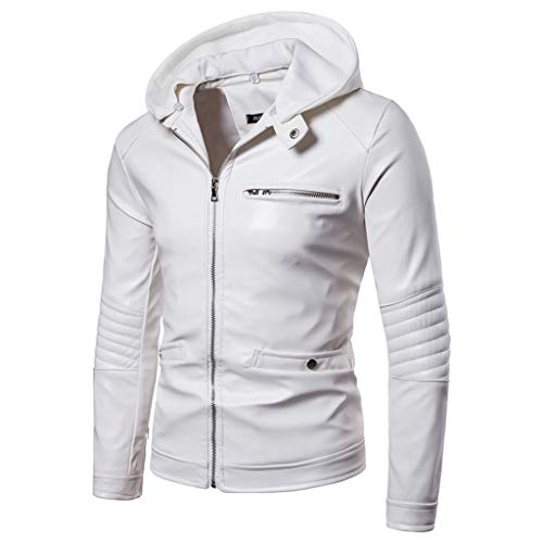 Hood Moto White Men Outdoor Corsa van de motorfiets herfst winter Slim-Fit kleding casual