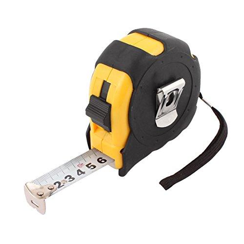 uxcell 10M 33Ft Plastic Shell Retractable Ruler Thumb Lock Measure Tape Measuring Tool