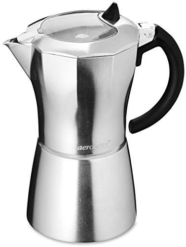 aerolatte Moka Stovetop Espresso Pot Coffee Maker, 9 Cup Capacity