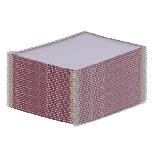 "8.5"" x 14"" Burgundy 30Pcs Triple Fold Menu Holder w/ 6 View with Ebook"
