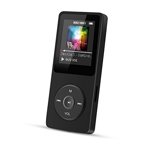 AGPTEK A02 8GB & 70 Hours Playback MP3 Lossless Sound Music Player (Supports up to 128GB),Black