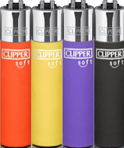 5 Stück CLIPPER® Micro Feuerzeug - Soft Touch Micro 2 - gemischt