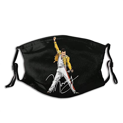 Jimoon Freddie Mercury QueenBand2 - Protezione per il viso, per esterni, antivento, antipolvere, senza cuciture, ripetibile, lavabile, regolabile