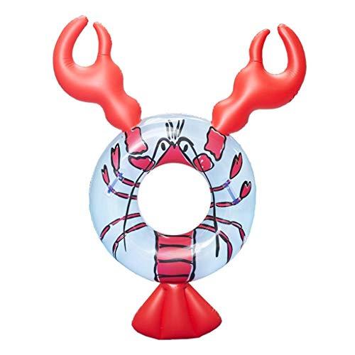 Licht Schwimmbad Schwimmboden aufblasbare schwimmende Reihen aufblasbare Hummer Schwimmbett Wasser Spielzeug Krebse Schwimmen Ring Rote Luftbetten & Schlauchboden (Farbe: rot, Größe: 160 × 95 × 90 cm)