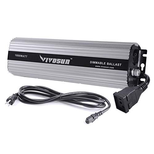 VIVOSUN 1000 watt Dimmable Digital Ballast for HPS MH Grow Light, UL Listed & Soft Start Program