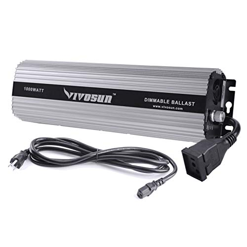 VIVOSUN 1000 watt Dimmable Digital Ballast for HPS MH Grow Light, UL Listed & Soft Start Program