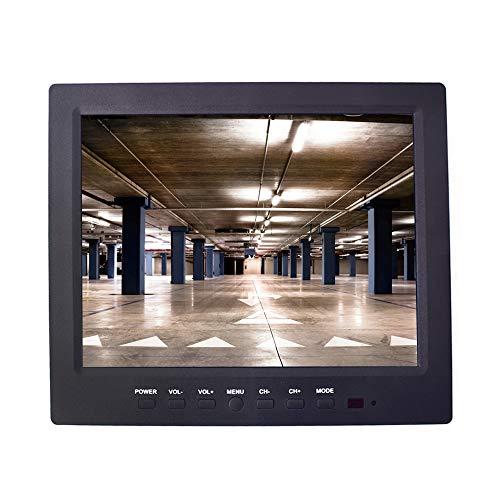 9,7 Pollici CCTV Monitor LCD IPS Schermo HD Display 1024x768 con VGA HDMI AV BNC USB Audio Porte Altoparlante Incorporato per Casa/Negozio/Auto Telecamera Sorveglianza STB con 12-24V Adattatore
