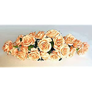 Silk Flower Arrangements Peach 2 ft Artificial Roses Swag Silk Flowers Wedding Arch Table Runner Centerpiece, for Wedding Supplies
