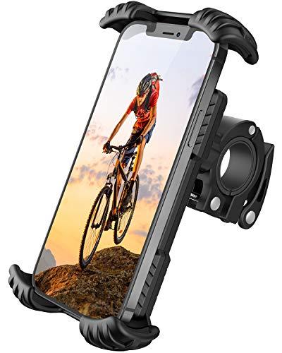 FLOVEME Motorrad Handyhalterung Fahrrad Handyhalter - Hüllenfreundlich Handy Halterung Fahrradlenker, Universal 360 Drehung Fahrradhalterung für 4,7 bis 7 Zoll Smartphone Schwarz