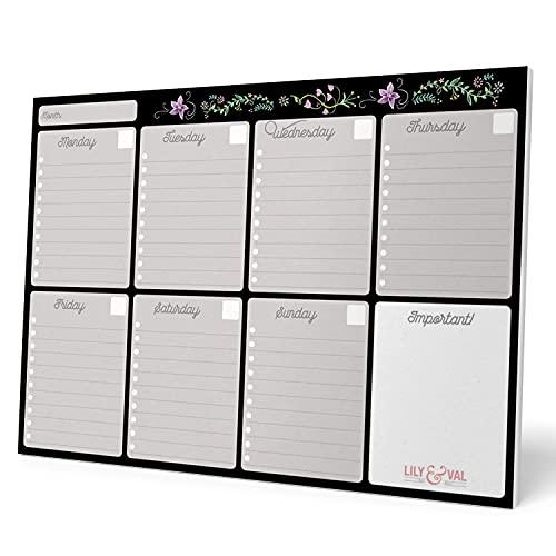 Erik - Planning da Tavolo Lily & Val con planner settimanale e 54 fogli a strappo, perfetto come agenda appuntamenti