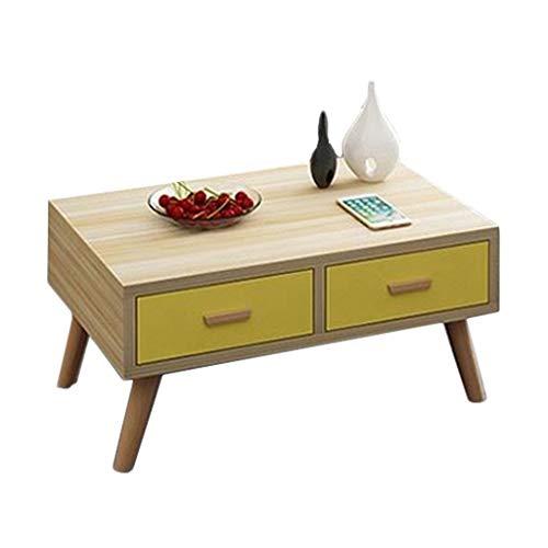 YULAN Nordic Window Tatami Petite Table Basse Moderne Minimaliste Mini Table Coréenne Petite Table Balcon Table Basse 2 Tiroirs (Color : C)