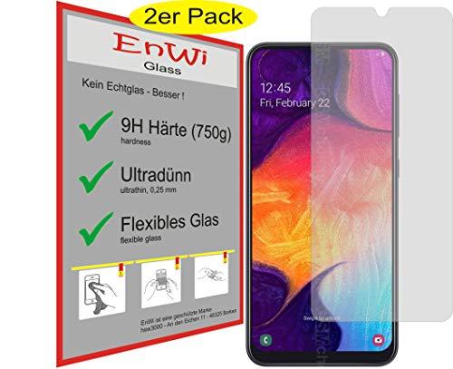 EnWi | 2X Panzer-Glas-Folie 9H Display-Schutz-Folie für Samsung Galaxy A50
