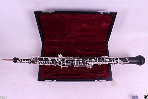Yinfente Llave profesional Oboe C izquierda F Resonancia semiautomática Ebonita/Rosewood Oboe Case + Oboe Parts (Ebonite)