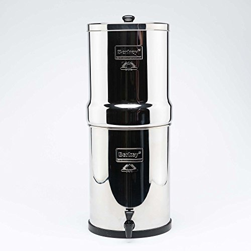 Royal Berkey Wasser Filter, 4schwarz Reiniger Elements mit 4pf-2Fluor Filter ~ Filtration System UK Edelstahl