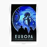 Moon Nasa Scifi Postcrossing Tourism Europa Science Travel Fiction Home Decor Wall Art Print Poster !