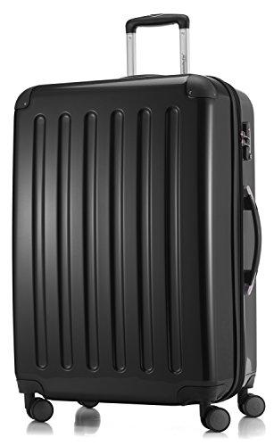 HAUPTSTADTKOFFER - Alex - 4 Doppel-Rollen Großer Hartschalen-Koffer Koffer Trolley Rollkoffer Reisekoffer, TSA, 75 cm, 119 Liter, Schwarz