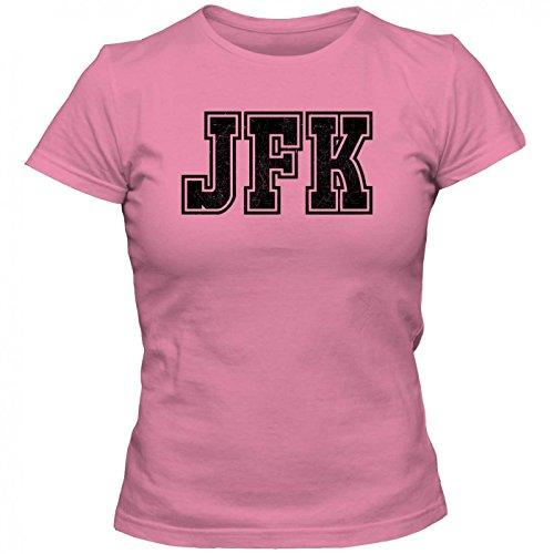 JFK Premium T-Shirt   Airport-Shirt   New York-John-F.-Kennedy   Reisen   Frauen   Shirt, Farbe:Pink (Orchid Pink L191);Größe:L