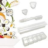 Molde para Sushi, 5 Piezas, Kit para Hacer Sushi, Onigiri, Juego de Moldes para Sushi, Herramienta para Sushi, Molde Cuadrado para Bolas de Arroz, Molde Triangular para Bricolaje