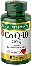 Nature's Bounty CoQ10 Pills and Dietary Supplement Supports Cardiovascular and Heart Health 200mg 80 Softgels