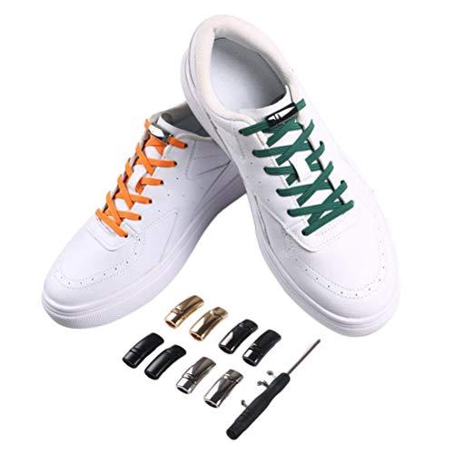 Nuryme No Tie Shoelaces für Kinder und Erwachsene, 4 Paar Elastische Schnürsenkel Schleifenlose Schuhbänder Elastic No Tie Lazy Schnürsenkel