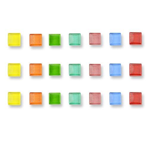 NB Imán de cristal decorativo cuadrado transparente para la pizarra blanca de...