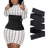 Sbamdon Bandage Wrap Waist Trainer for Women, Tiktok Snatch Me Up Ajustable Waist Trimmer Belt for Stomach, Invisible Waist Wrap Back Braces for Tummy, Postpartum Recovery Sweat Body Shaper Black