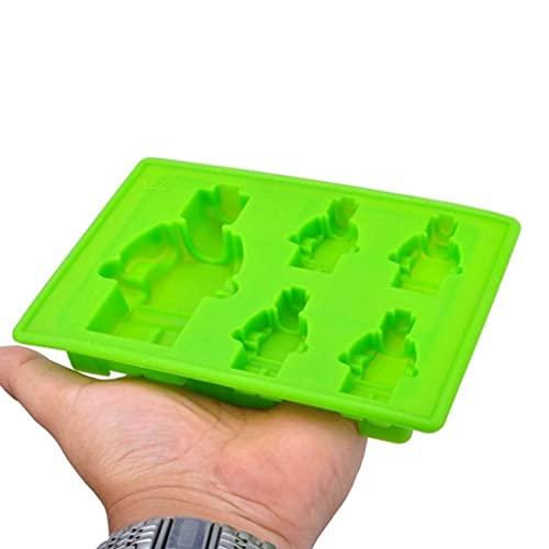 JYDQM DIY Mini Robot de Dibujos Animados Molinillo de Malla de Hielo Jelly Helado Molde de Chocolate Accesorios para Hornear